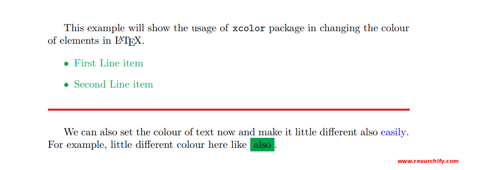 Using Colors/Colours in LaTeX| How to Use Colours in LaTeX