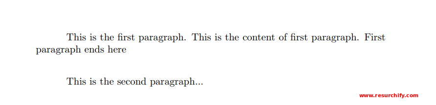 Paragraph Formatting in LaTeX   How to do Paragraph